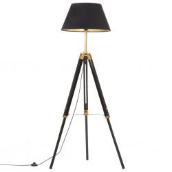 stradeXL Lampa podłogowa na trójnogu, czarno-złota, drewno, 141 cm