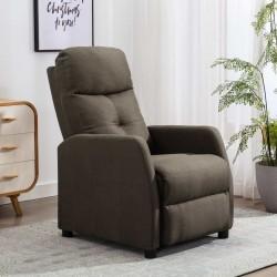 stradeXL Rozkładany fotel, kolor taupe, tapicerowany tkaniną
