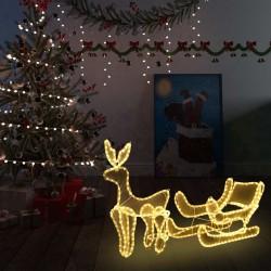 stradeXL Świąteczny świecący renifer z saniami, z siateczką, 216 LED