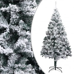 stradeXL Artificial Christmas Tree with Flocked Snow Green 240 cm PVC
