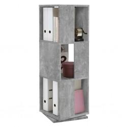 FMD Obrotowa szafka na dokumenty, 34 x 34 x 108 cm, kolor betonu