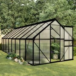 stradeXL Greenhouse Anthracite Aluminium 9.31 m²