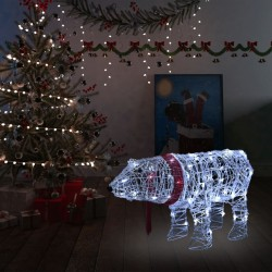 stradeXL Christmas Light Decoration Bear 45 LEDs 71x20x38 cm Acrylic