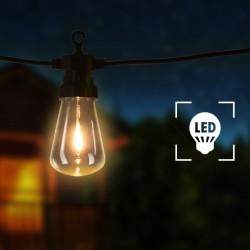 stradeXL Ogrodowe lampki dekoracyjne, 20 szt., owalne żarówki, 23 m