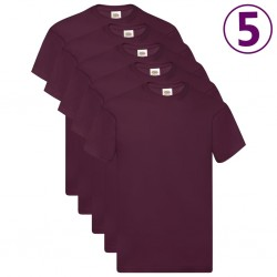 Fruit of the Loom Oryginalne T-shirty, 5 szt., burgund, XL, bawełna