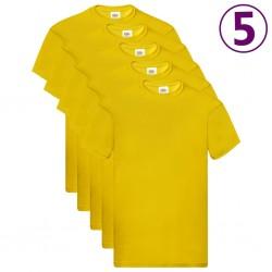 Fruit of the Loom Oryginalne T-shirty, 5 szt., żółte, L, bawełna