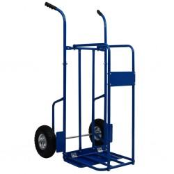 stradeXL Firewood Trolley Steel 63x70.5x119.5 cm 120 kg Blue