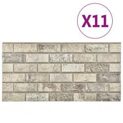 stradeXL Panele ścienne 3D, wzór piaskowej cegły, 11 szt., EPS