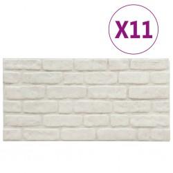 stradeXL Panele ścienne 3D, wzór białej cegły, 11 szt., EPS