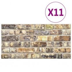 stradeXL Panele ścienne 3D, wzór wielokolorowych cegieł, 11 szt., EPS