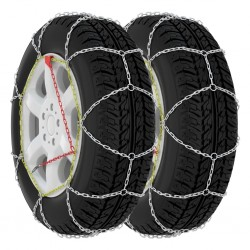 stradeXL Car Tyre Snow Chains 2 pcs 16 mm SUV 4x4 Size 400