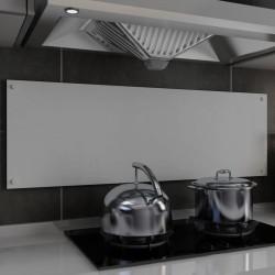 stradeXL Panel ochronny do kuchni, biały, 120x40 cm, szkło hartowane