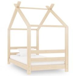 stradeXL Rama łóżka dziecięcego, lite drewno sosnowe, 70 x 140 cm