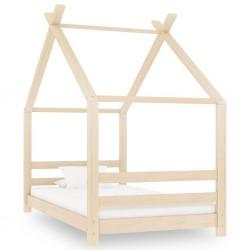stradeXL Rama łóżka dziecięcego, lite drewno sosnowe, 80 x 160 cm