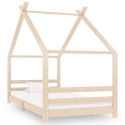stradeXL Rama łóżka dziecięcego, lite drewno sosnowe, 90 x 200 cm