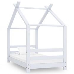 stradeXL Rama łóżka dziecięcego, biała, lite drewno sosnowe, 70x140 cm