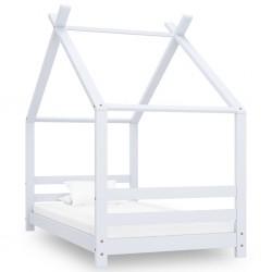stradeXL Rama łóżka dziecięcego, biała, lite drewno sosnowe, 80 x 160 cm