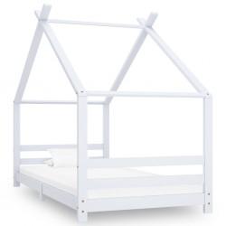 stradeXL Rama łóżka dziecięcego, biała, lite drewno sosnowe, 90 x 200 cm
