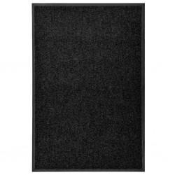 stradeXL Wycieraczka z możliwością prania, czarna, 60 x 90 cm
