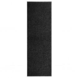stradeXL Wycieraczka z możliwością prania, czarna, 60 x 180 cm