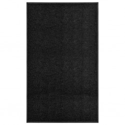 stradeXL Wycieraczka z możliwością prania, czarna, 90 x 150 cm