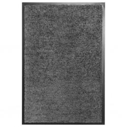 stradeXL Wycieraczka z możliwością prania, antracytowa, 40 x 60 cm
