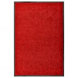 stradeXL Wycieraczka z możliwością prania, czerwona, 60 x 90 cm