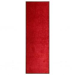 stradeXL Wycieraczka z możliwością prania, czerwona, 60 x 180 cm