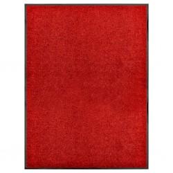 stradeXL Wycieraczka z możliwością prania, czerwona, 90 x 120 cm