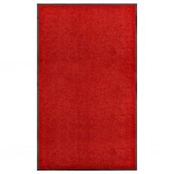 stradeXL Wycieraczka z możliwością prania, czerwona, 90 x 150 cm