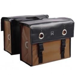 Willex Sakwy rowerowe Tarpaulin, 52 L, czarne i matowe brązowe