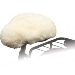 Willex Nakładka na siodełko rowerowe, owcza skóra, naturalna, 30120