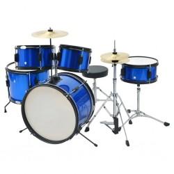 stradeXL Kompletna perkusja Junior w kolorze niebieskim