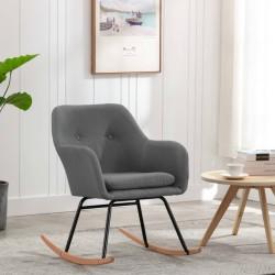 stradeXL Fotel bujany, jasnoszary, tapicerowany tkaniną