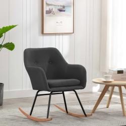 stradeXL Fotel bujany, ciemnoszary, tapicerowany tkaniną