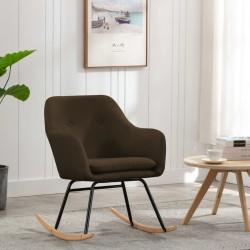 stradeXL Fotel bujany, brązowy, tapicerowany tkaniną