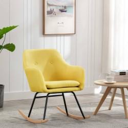 stradeXL Fotel bujany, musztardowy, tapicerowany tkaniną