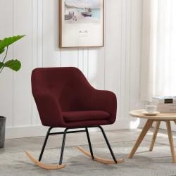 stradeXL Fotel bujany, winna czerwień, tapicerowany tkaniną