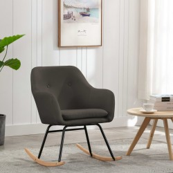 stradeXL Fotel bujany, taupe, tapicerowany tkaniną