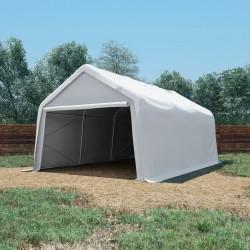 stradeXL Namiot magazynowy z PVC, 550 g/m², 4x6 m, biały