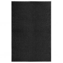 stradeXL Wycieraczka z możliwością prania, czarna, 120 x 180 cm