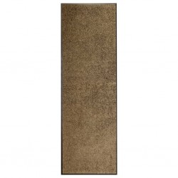 stradeXL Doormat Washable Brown 60x180 cm