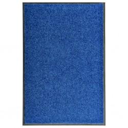 stradeXL Wycieraczka z możliwością prania, niebieska, 60 x 90 cm