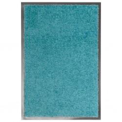 stradeXL Doormat Washable Cyan 40x60 cm