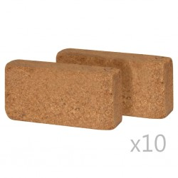 stradeXL Kostki włókna kokosowego, 20 szt., 650 g, 20 x 10 x 4 cm