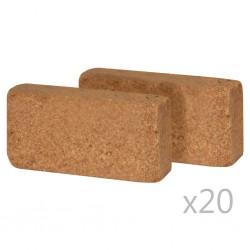 stradeXL Kostki włókna kokosowego, 40 szt., 650 g, 20 x 10 x 4 cm