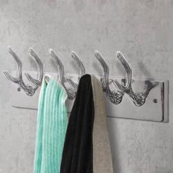 stradeXL Wardrobe Coat Hooks 2 pcs Silver Aluminium
