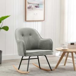 stradeXL Fotel bujany, szary, tapicerowany aksamitem