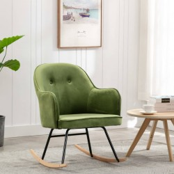 stradeXL Fotel bujany, jasnozielony, tapicerowany aksamitem