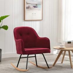 stradeXL Fotel bujany, winna czerwień, tapicerowany aksamitem
